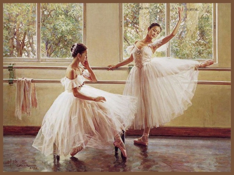 Guan zeju peintures danseuses - Peinture les danseuses ...