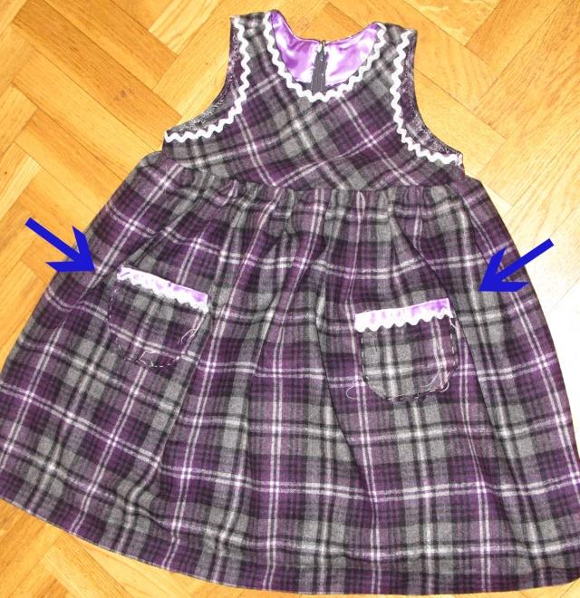 Robe d 39 hiver 4 ans 18 24 mois tuto couture ma vie - Coudre une fermeture eclair sur une robe ...