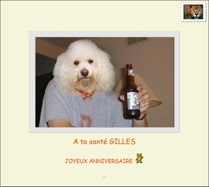 Joyeux Anniversaire Gilles Bar De Gadget