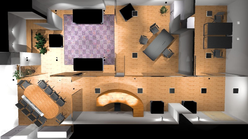Visualizzazione contemporanea di tutte le scena for Stanza uso ufficio