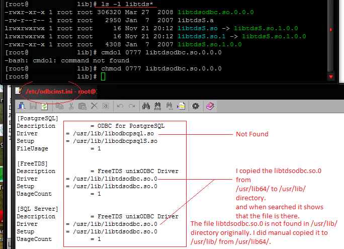 Server can read libtdsodbc so 0 - RaGEZONE - MMO development