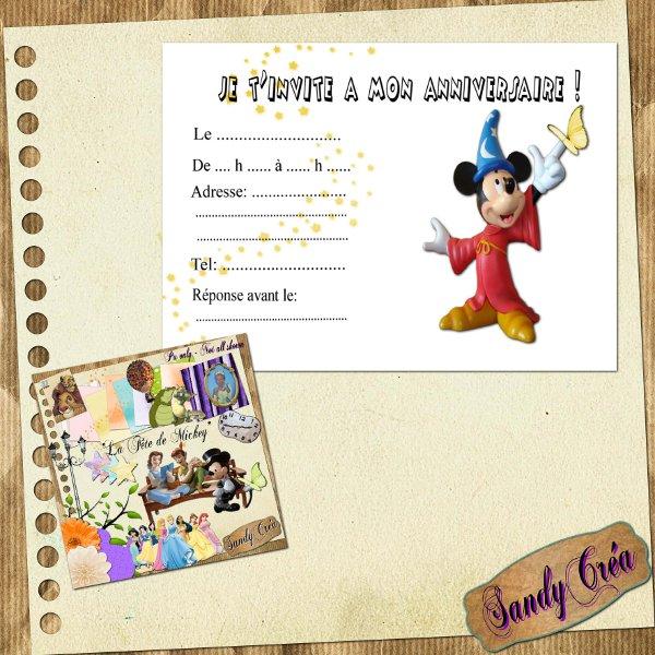 Carte invitation Anniversaire 15 de SandyCréa - Le blog de Yorka77