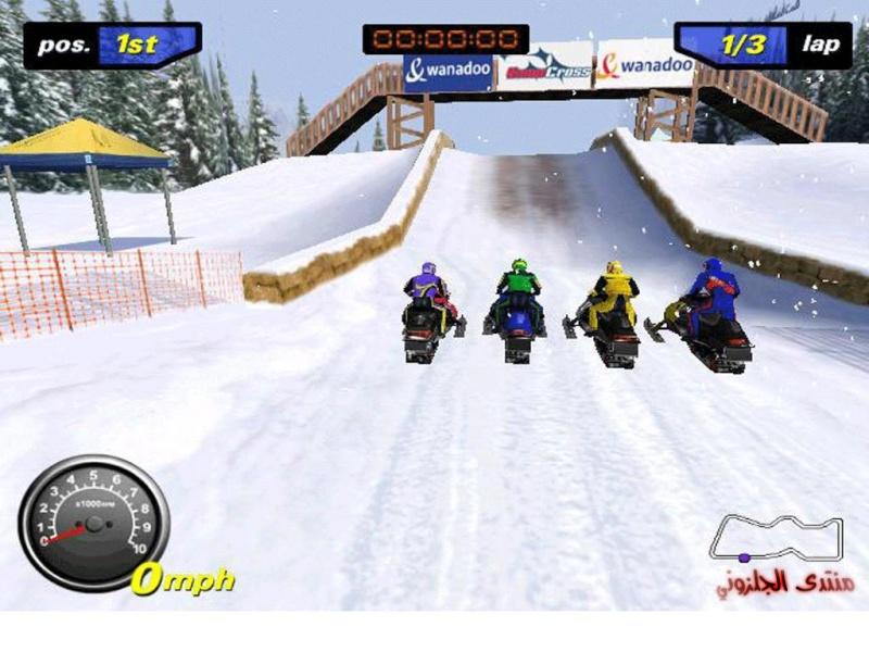 اجمل العاب السباق الجليد snowcrosse