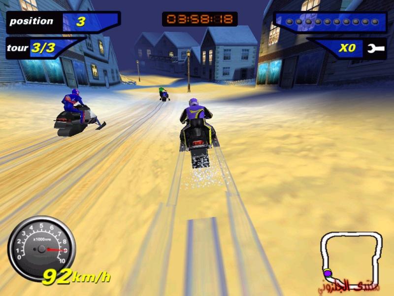 العاب السباق الجليد snowcrosse