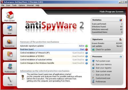 ������ Ashampoo AntiSpyWare2 ����� ������ �������