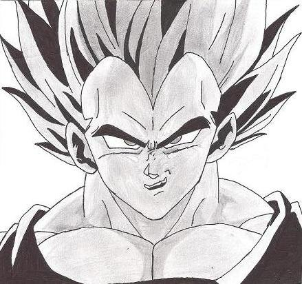Comment dessiner vegeta facilement - Dessin de vegeta ...