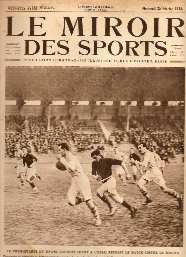 1925 quand le bs faisait la 1 re page du miroir des for Le miroir des sports
