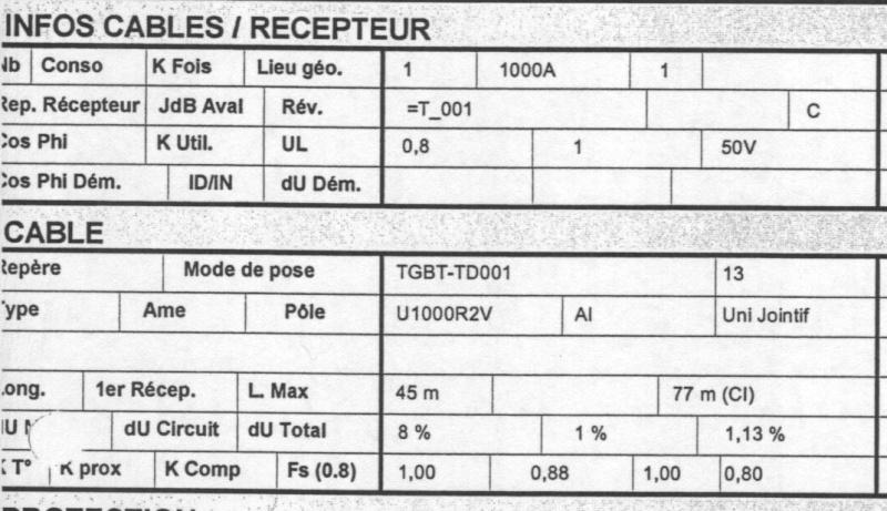 Rapport de stage et section de c bles for Cable electrique pour eclairage exterieur
