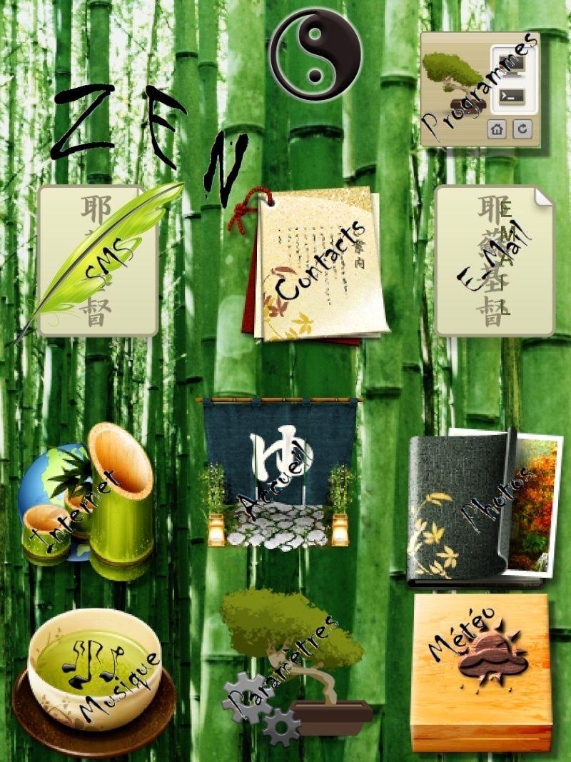 Icnes et fond d 39 cran thme zen horloge for Theme ecran