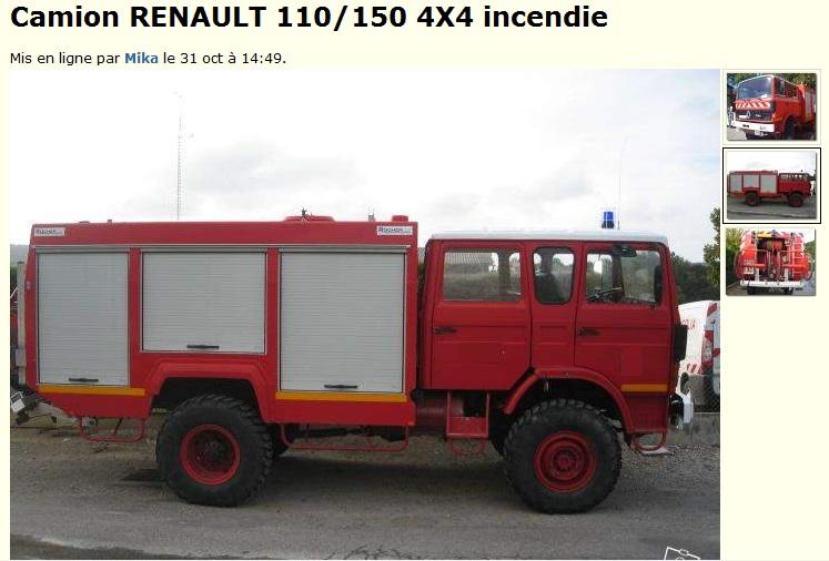 Camion citerne pompier tracteur routier occasion renault - Leo le camion pompier ...
