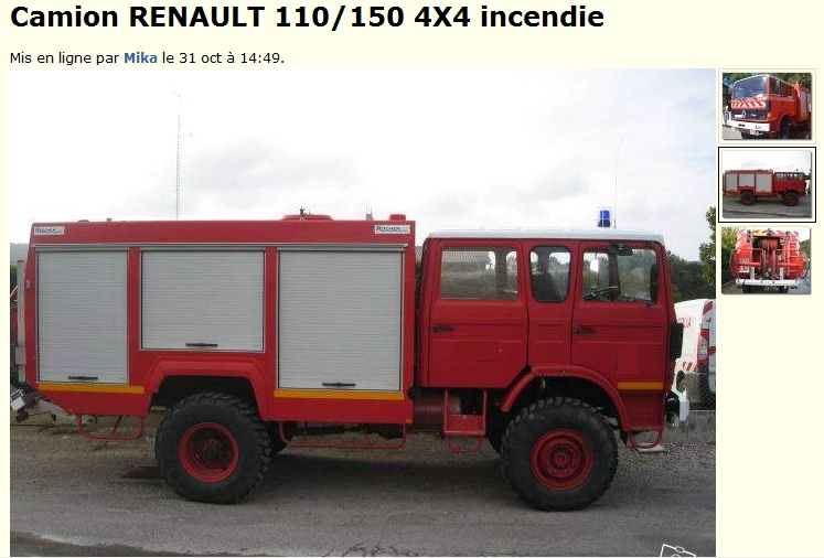 camion citerne pompier tracteur routier occasion renault. Black Bedroom Furniture Sets. Home Design Ideas