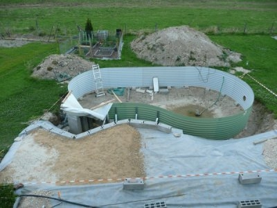 Piscine semi enterr e waterair - Piscine enterree tarif ...