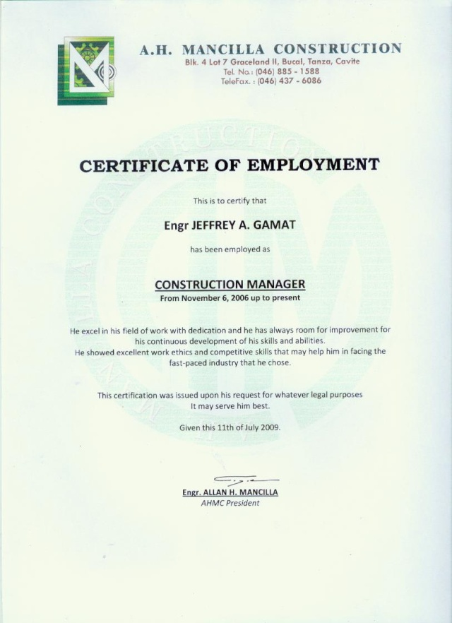 Work certificate template yadclub Images