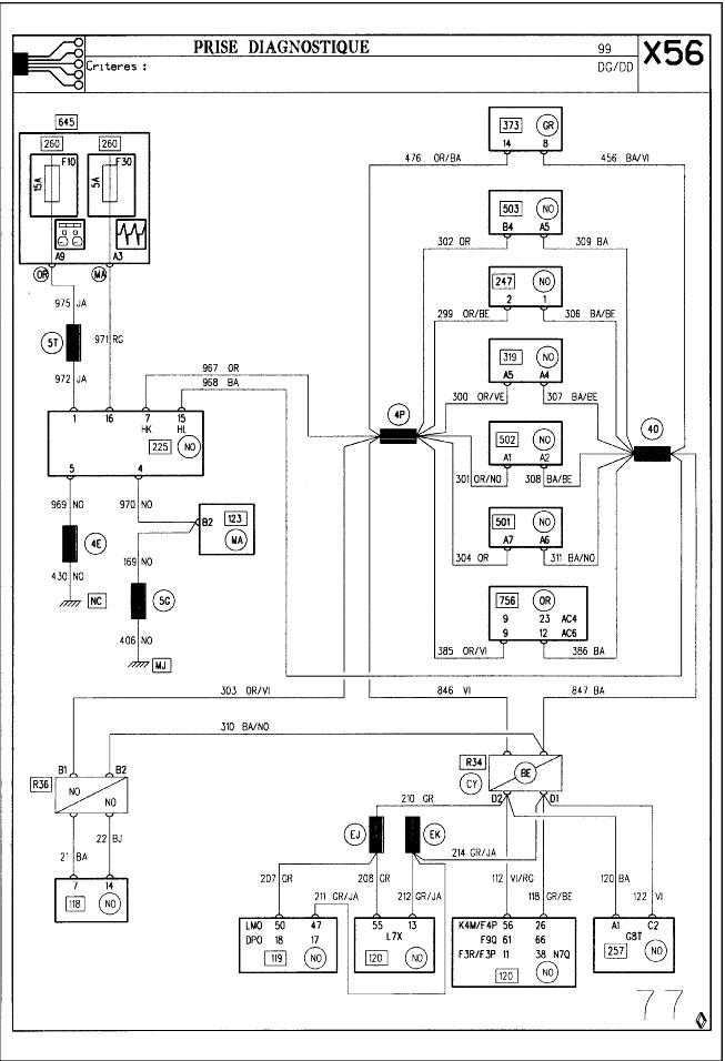 forum renault laguna  u2022 recherche sch u00e9ma de c u00e2blage prise diagnostic laguna 1 f3r   electricit u00e9