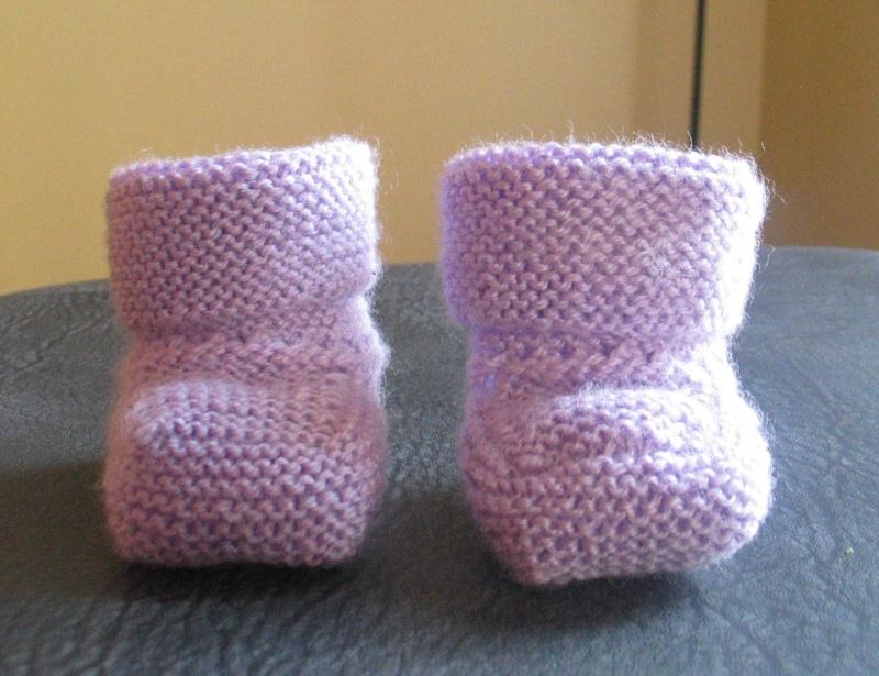Chaussons pour b b au tricot - Comment tricoter des chaussettes en laine ...