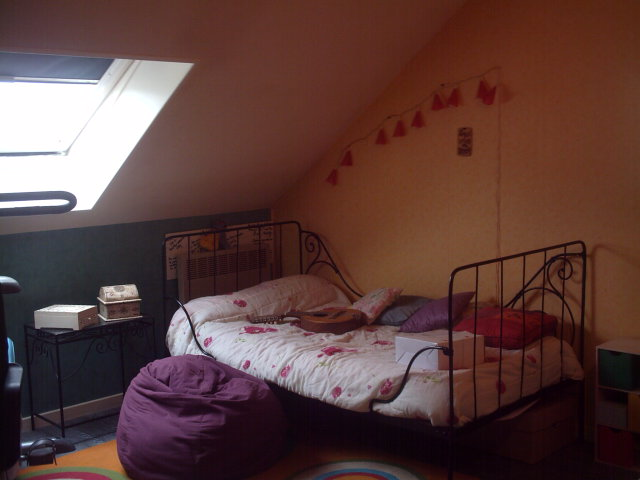 Deco chambre bebe taupe rose - Chambre fille mansardee ...