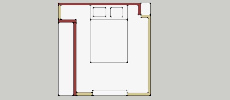 que sur le contour pas le portes si tu peux les mettres en beige cest mieux pareil pour la porte de la chambre contour en beige centre en prune - Chambre Beige Et Prune