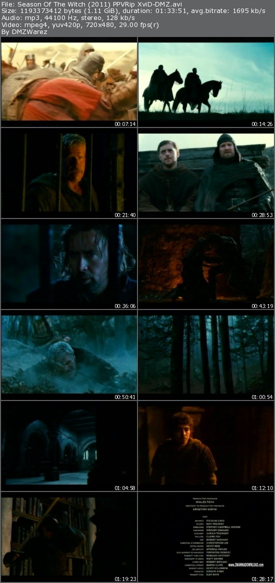 Season Of The Witch (2011) PPVRip XviD-DMZ [ReUpload]