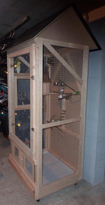Modeles cages et volieres for Voliere interieur
