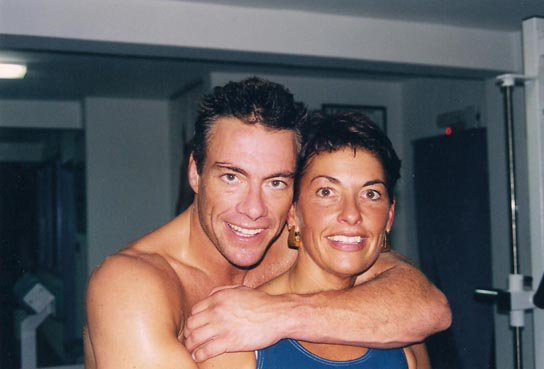 Photo of Jean-Claude Van Damme & his  Sister  Veronique Van Varenberg